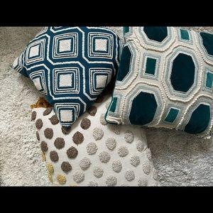 Textured boho throw pillows